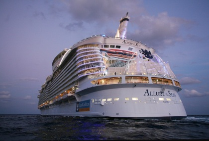 Launch of Royal Caribbean International's Allure of the Seas.